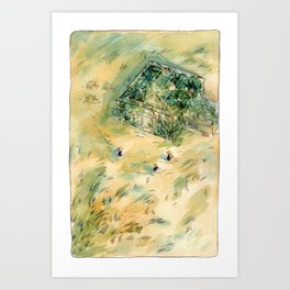 Greenhouse Clubhouse - Parsley Merlin and Beatrice Page Art Print