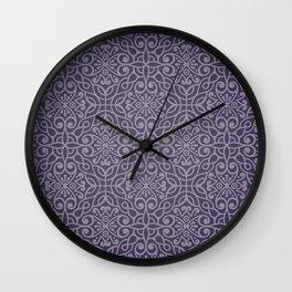 Purple pattern Wall Clock