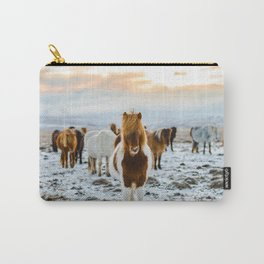 Icelandic horses #society6 #decor #buyart Carry-All Pouch