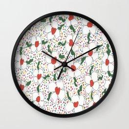 Classic Floral Pattern Wall Clock