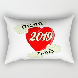 Mom and Dad 2019 Heart Rectangular Pillow
