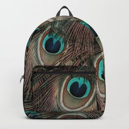 Peacock feathers abstract Backpack