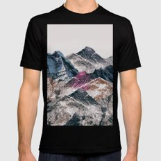 mountains Mens Fitted Tee MEDIUM Black