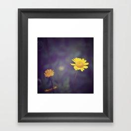 Miss Yellow Daisy Framed Art Print