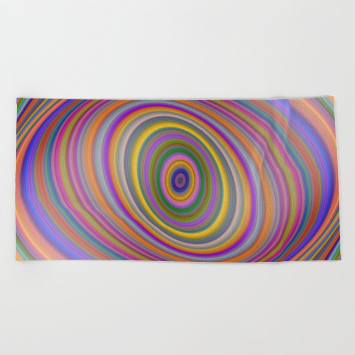 Happy Hypnosis Beach Towel