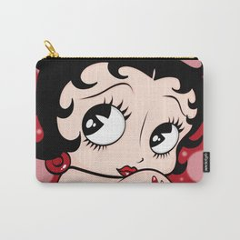 Betty Boop Red BKG by Art In The Garage Carry-All Pouch
