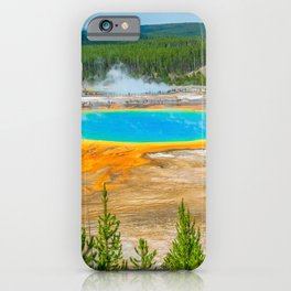 Yellowstone Grand Prismatic Spring Print iPhone Case