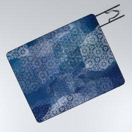 Shibori Lace Collage Picnic Blanket