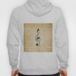 Clef Music Notes Hoody
