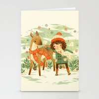 jon snow Stationery Cards featuring A Wobbly Pair by Teagan White