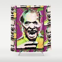 bukowski Shower Curtains featuring Charles Bukowski. The Wooden Butterfly. by brett66