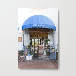 Sweet Little Florist Shop Metal Print