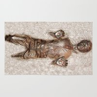 han solo Area & Throw Rugs featuring Han Solo In Carbonite by Graphic Craft