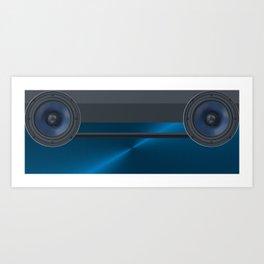 Blue Speakers Art Print