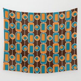 Orange Square Wall Tapestry