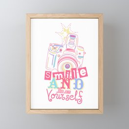 Smile and be Yourself - Pastel Camera Framed Mini Art Print