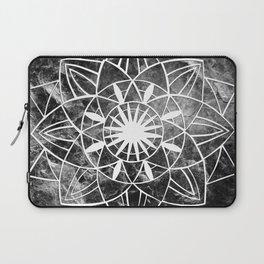 Star Mandala on Enigmatic Black Marble #1 #decor #art #society6 Laptop Sleeve