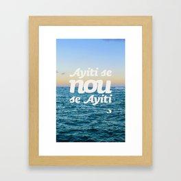 Ayiti Se Nou - Beach Sunset Framed Art Print