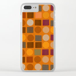 """Warm spots & squares (pattern)"" Clear iPhone Case"