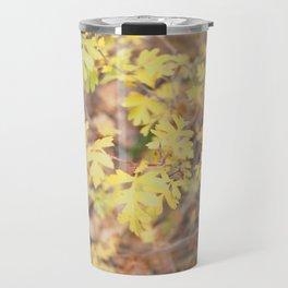 Tiny Yellow Leaves in Autumn Travel Mug