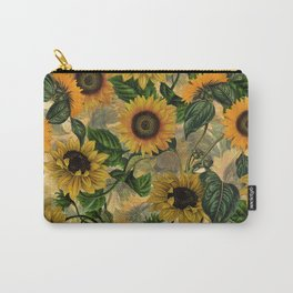 Vintage & Shabby Chic - Sunflowers Flower Garden Carry-All Pouch