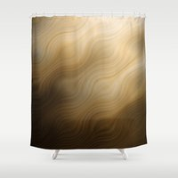 ombre Shower Curtains featuring OMBRE by Luigi Riccardi