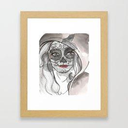 Woman bones Framed Art Print