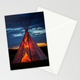 Southwestern Teepee Sunset Stationery Cards