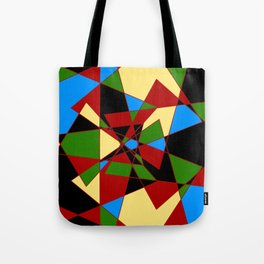 Shattered Multi-Color Geometric Tote Bag