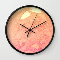 tequila Wall Clocks featuring Tequila sunrise by Hipsterdirtbag