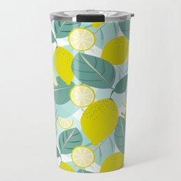 Lemons and Slices Travel Mug
