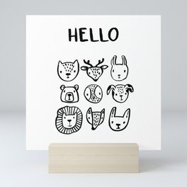 Say Hello Mini Art Print
