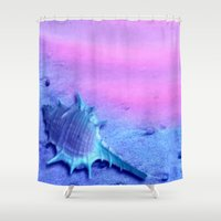 shell Shower Curtains featuring Shell by Elena Indolfi