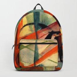 """Franz Marc """"Landscape with Black Horses"""" Backpack"""