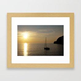Sailing boat  Framed Art Print