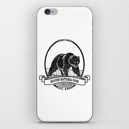 Glacier National Park Emblem iPhone Skin