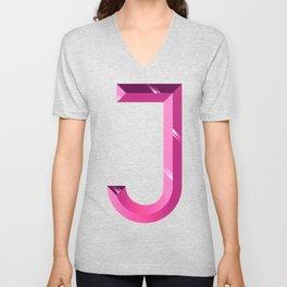 Crystal 'J' Unisex V-Neck