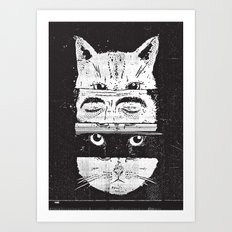 The cats Art Print