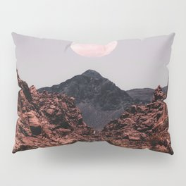 Road Red Moon Pillow Sham