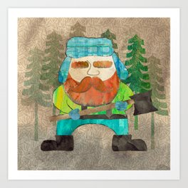 Lumberjack Attack, Modern Mr. Lumberjack Art Print