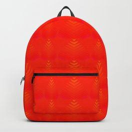 Mother of pearl pattern of red hearts and stripes on a ruby background. Backpack