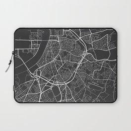 Antwerp Map, Belgium - Gray Laptop Sleeve