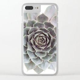 Succulent burst Clear iPhone Case