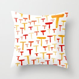 Painted T Throw Pillow