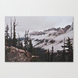 Fog in the Cascades Canvas Print
