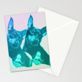 Ava dreams of pastel friends Stationery Cards