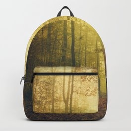 fall morning forest Backpack