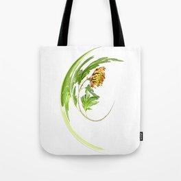 Warped Chrysanthemum Tote Bag