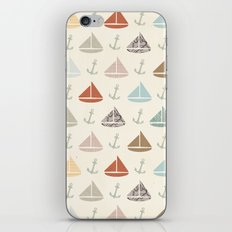 boats and anchors pattern iPhone & iPod Skin