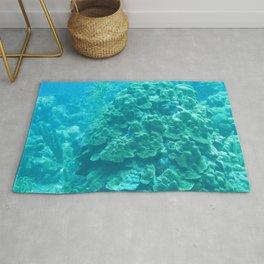 Watercolor Seascape, Bonaire 03, Dutch West Indies Rug